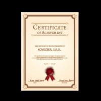 Vitrum Pure ocenenia certifikát