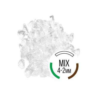 Opracovaný sklenený štrk Vitrum Pure mix 4-2mm