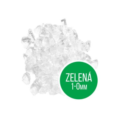 Opracovaný sklenený štrk Vitrum Pure zelená 1-0 mm